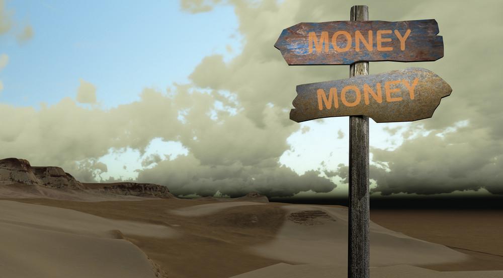 Sign Direction Money Money