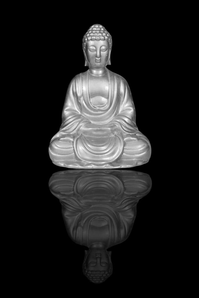Silver Buddha Statue