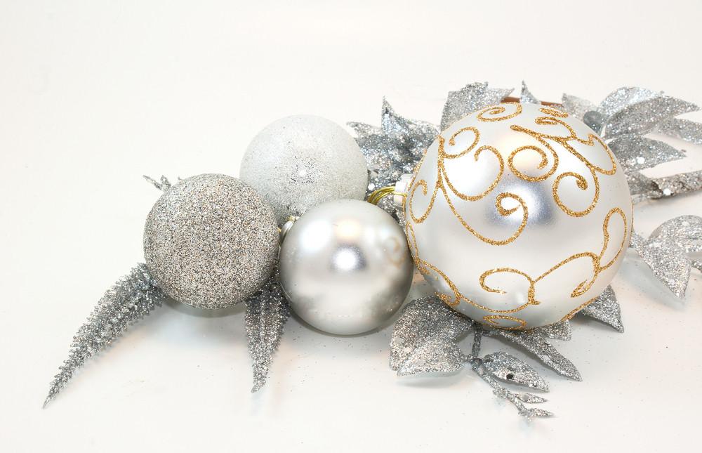 Silver Christmas Ornaments
