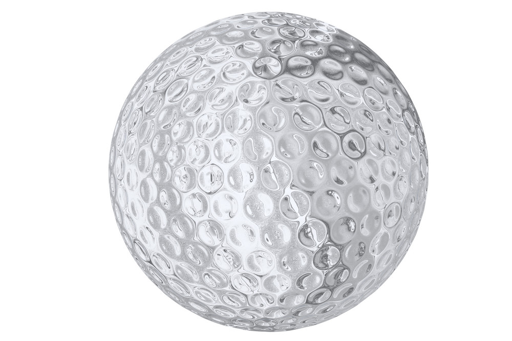 Silver Golf Ball