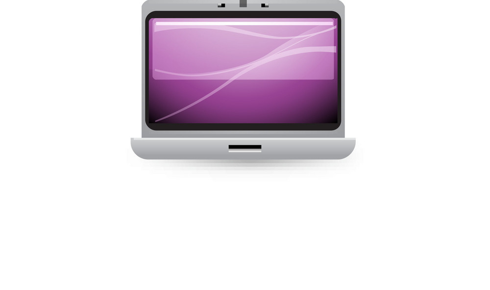 Silver Notebook Computer Lite Plus Icon