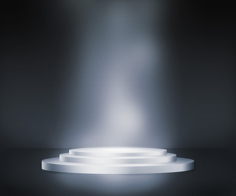 Silver Podium Spotlight Background