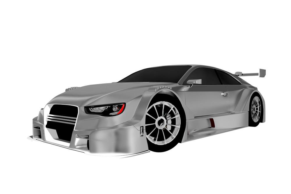 Silver Speedway Car