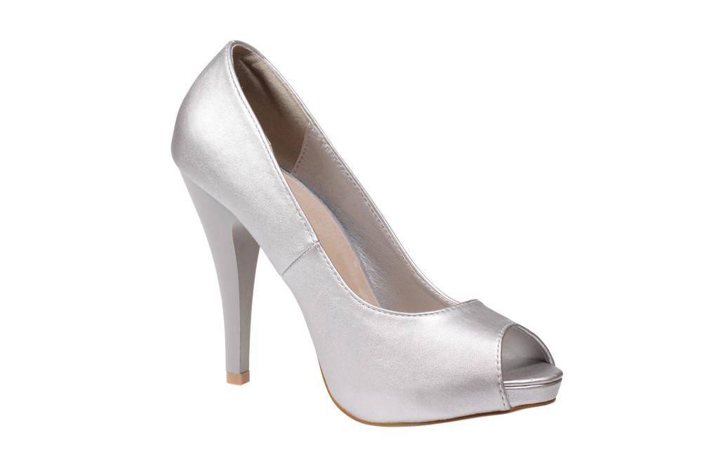 Silver Women's Heel Shoe
