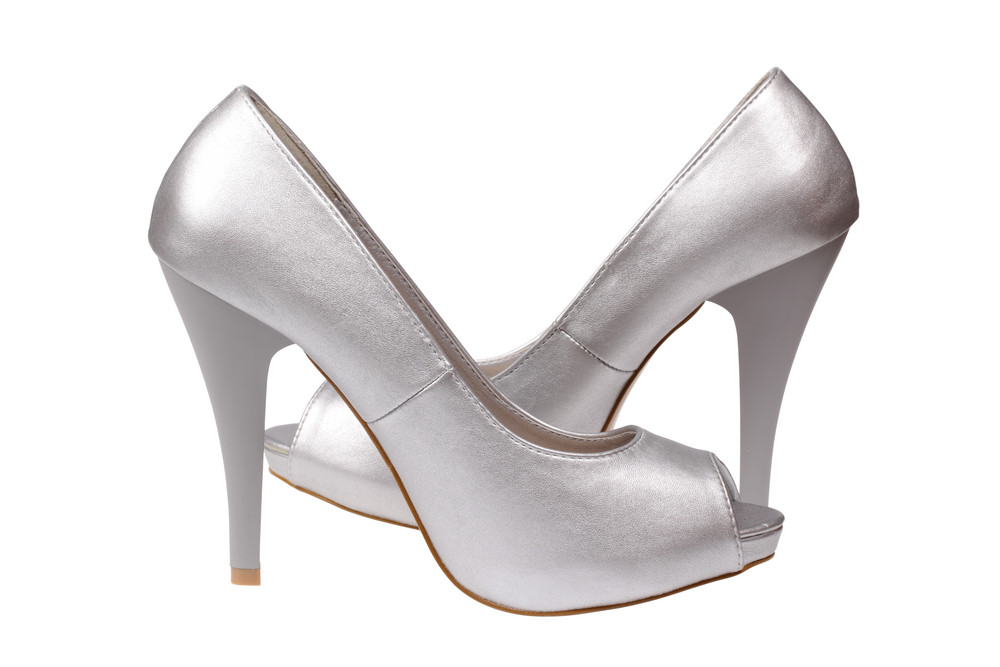 Silver Women's Heel Shoes