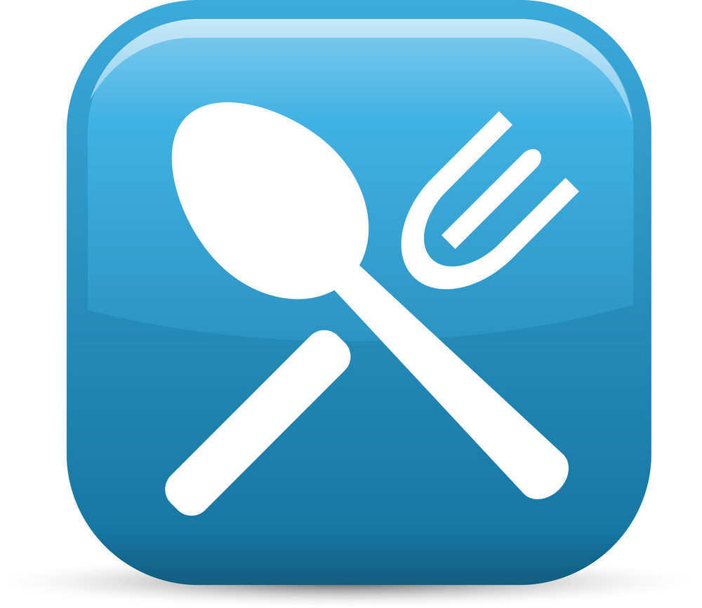 Silverware 2 Elements Glossy Icon