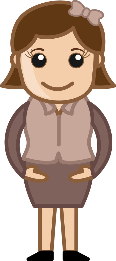 Simple Cartoon Vector Girl