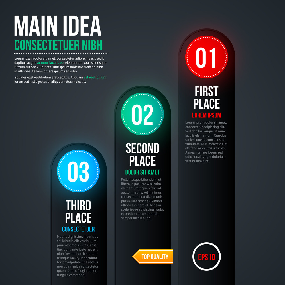Simple Chart Template For Web Design. Eps 10