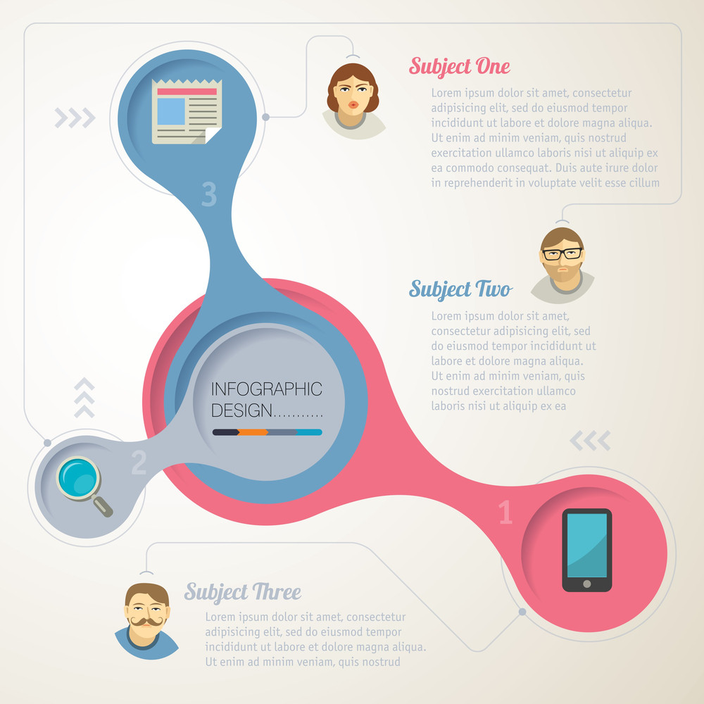 Simple Infographic Step By Step Template