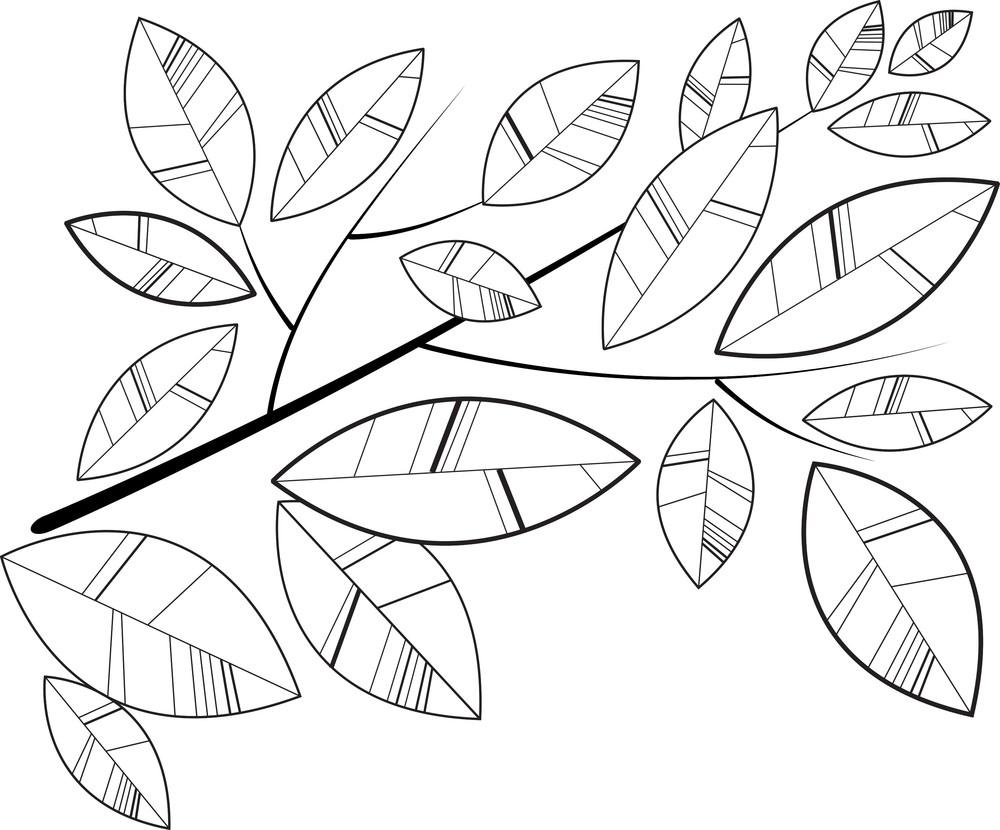 Simple Retro Shape Leaves Background