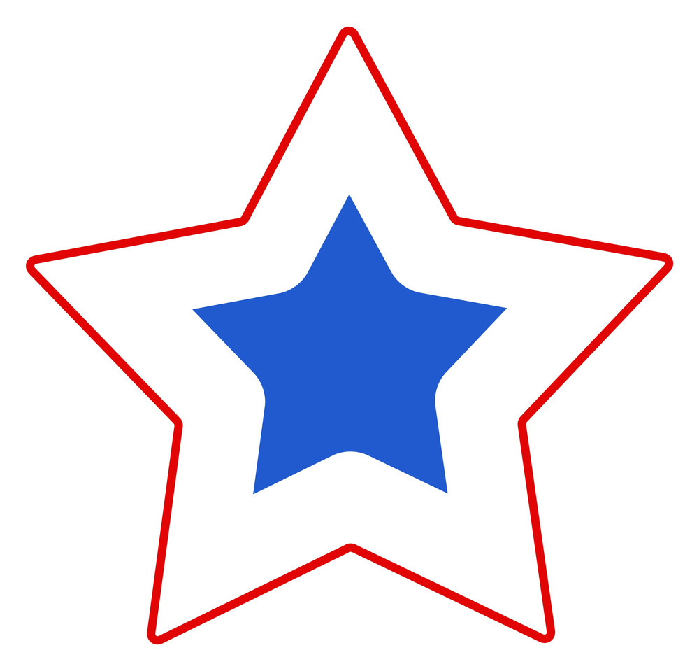 Simple Star For Us 4th Of July Independence Day Vector Design