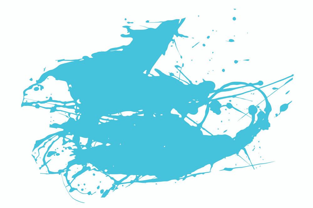 Single Blue Vector Splash