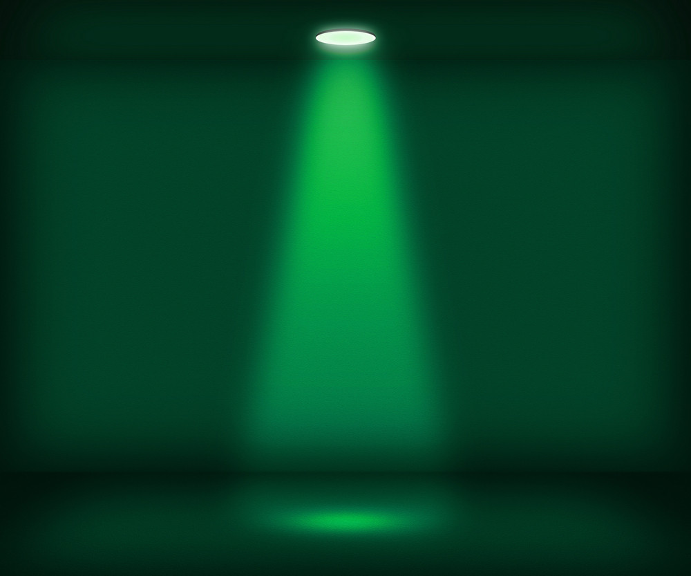 Single Spotlight Green Room Background