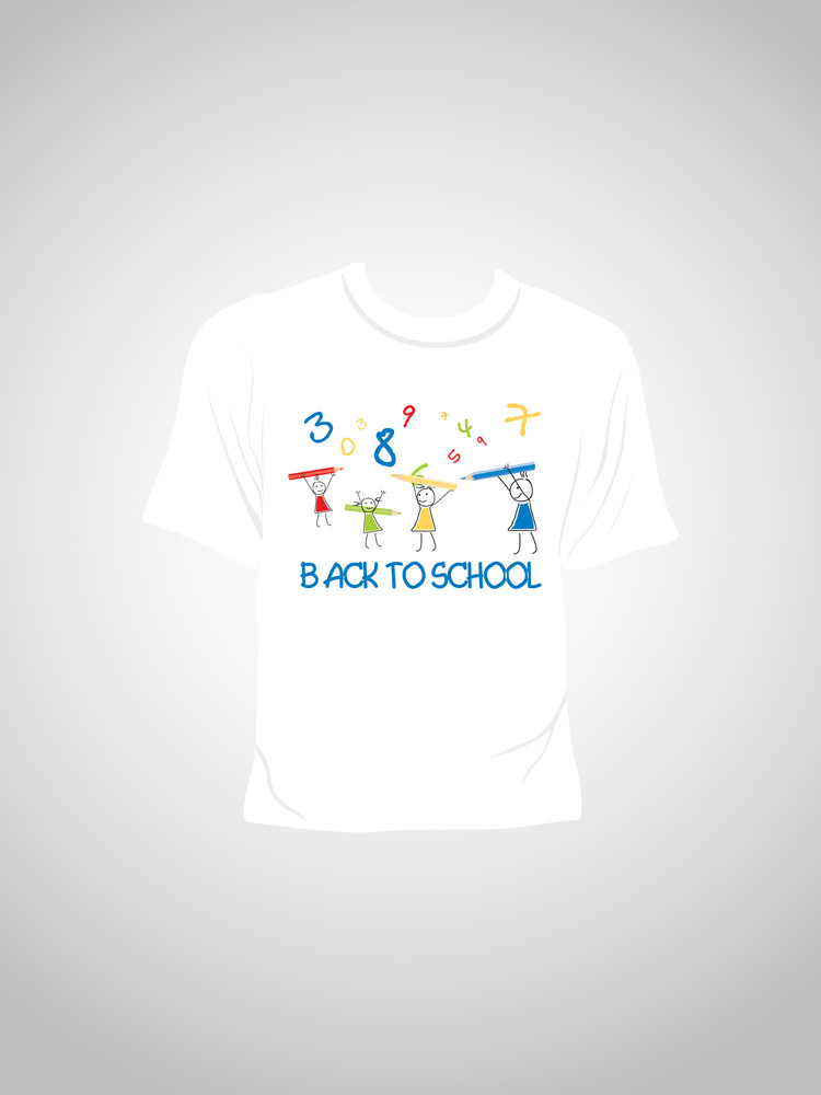 Single Tshirt With Back To School Concept