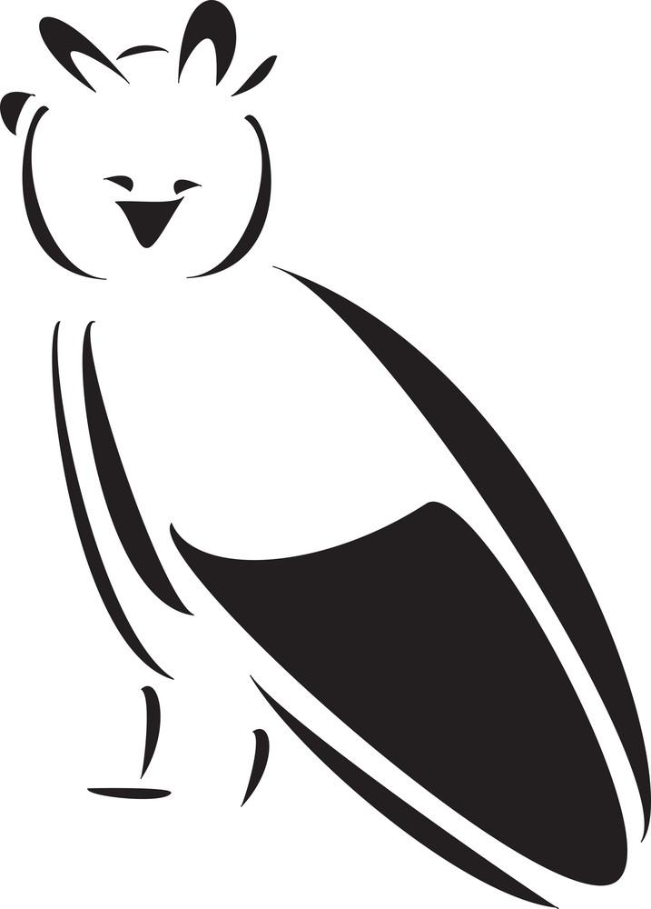 Sitting Bird In Smiling Way .