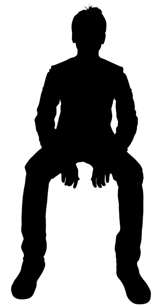 Sitting Boy Silhouette