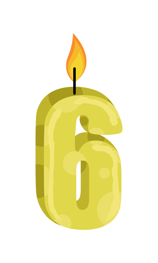 Six Number Candle