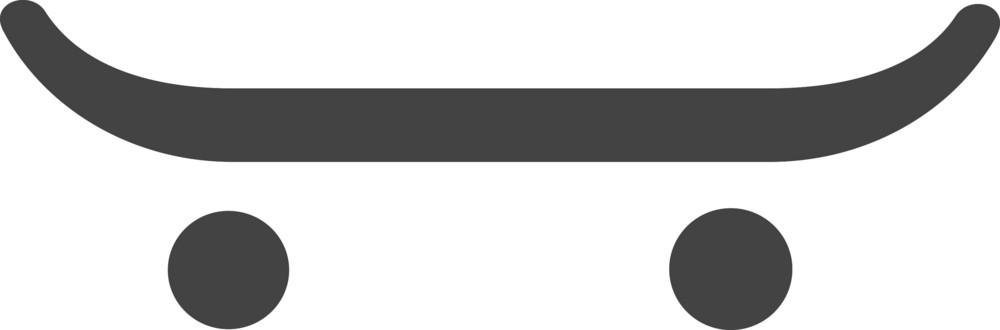 Skataboard Glyph Icon