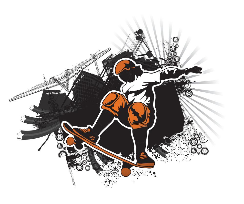 Skater With Grunge