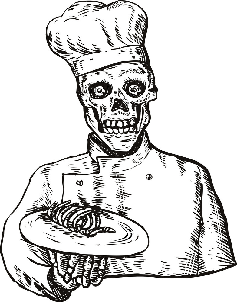 Skeleton Chef Cook