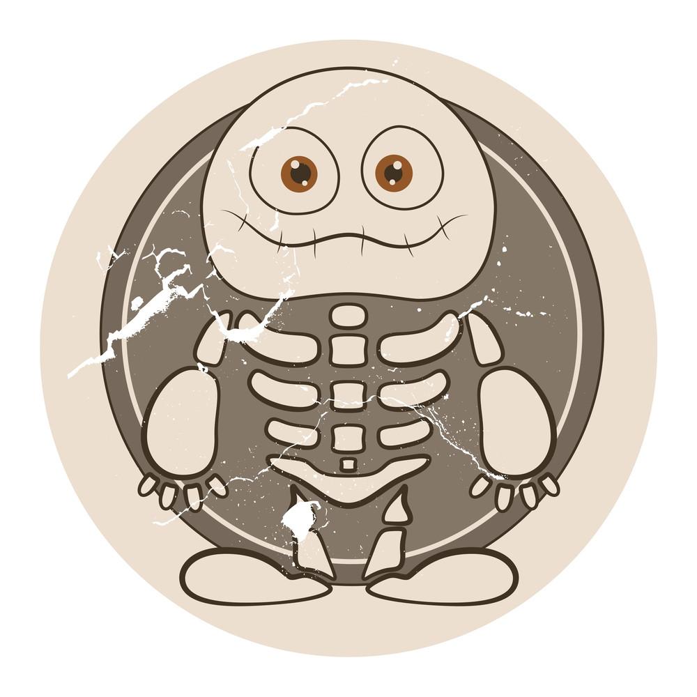 Skeleton Cute Vector