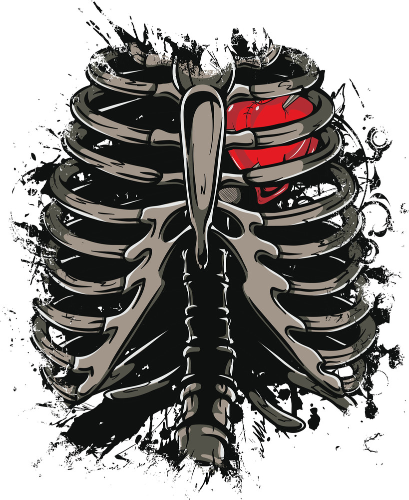 Skeleton Vector T-shirt Design
