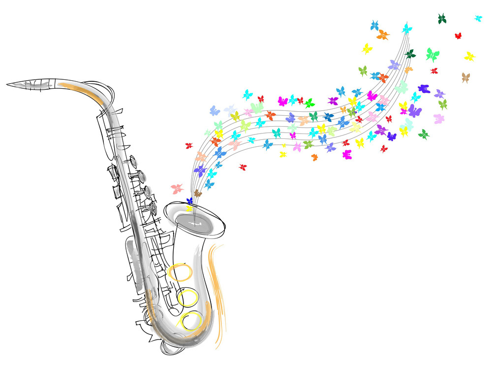 Sketch Of The Saxophone