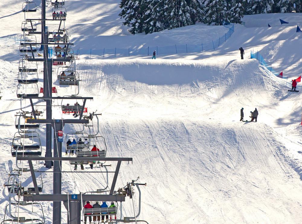Ski Lifts Skiers