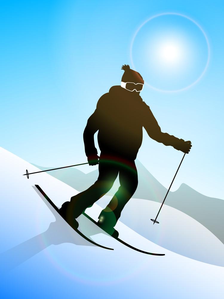 Skier Performing Skiing
