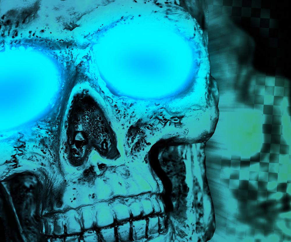 Skull Halloween Backdrop