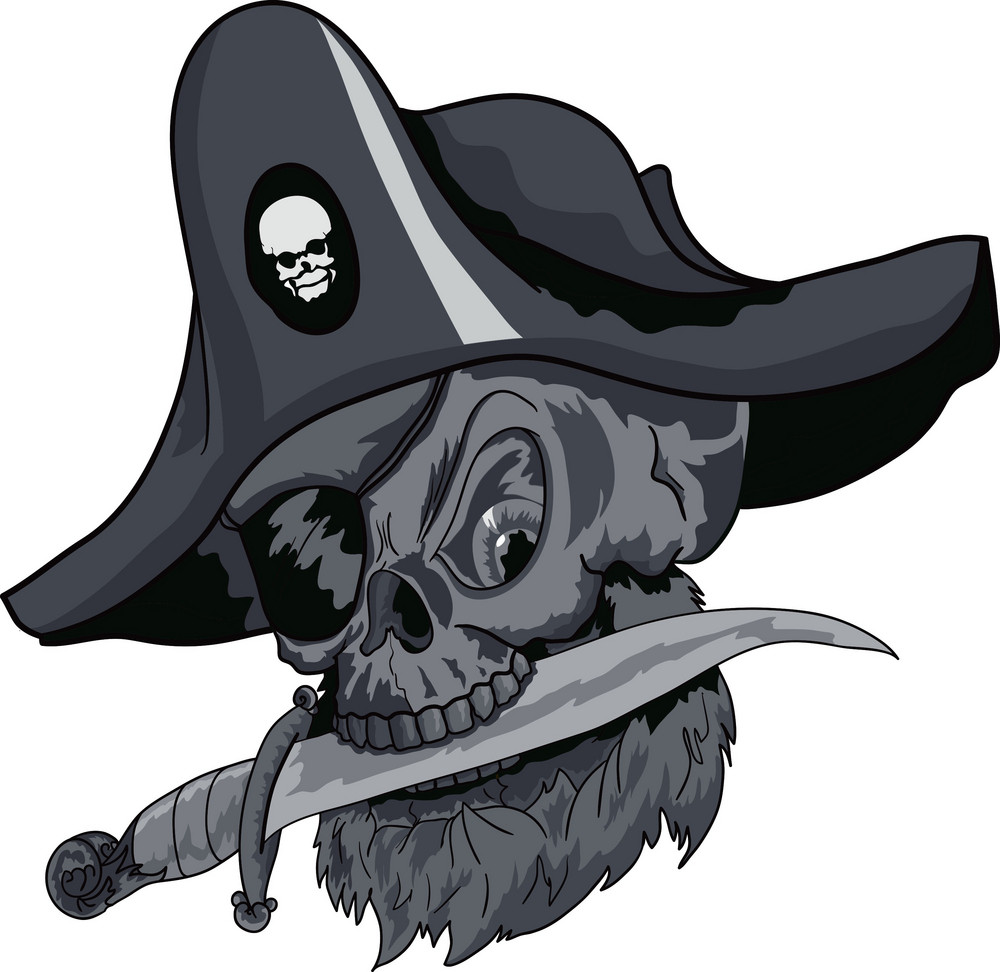Skull Vector Element With Pirate Hat