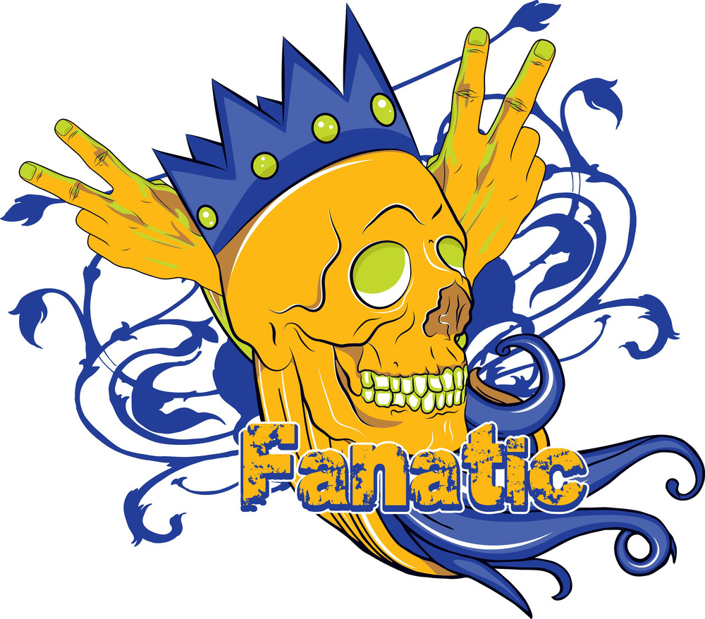 Skull With Crown Vector T-shirt Design