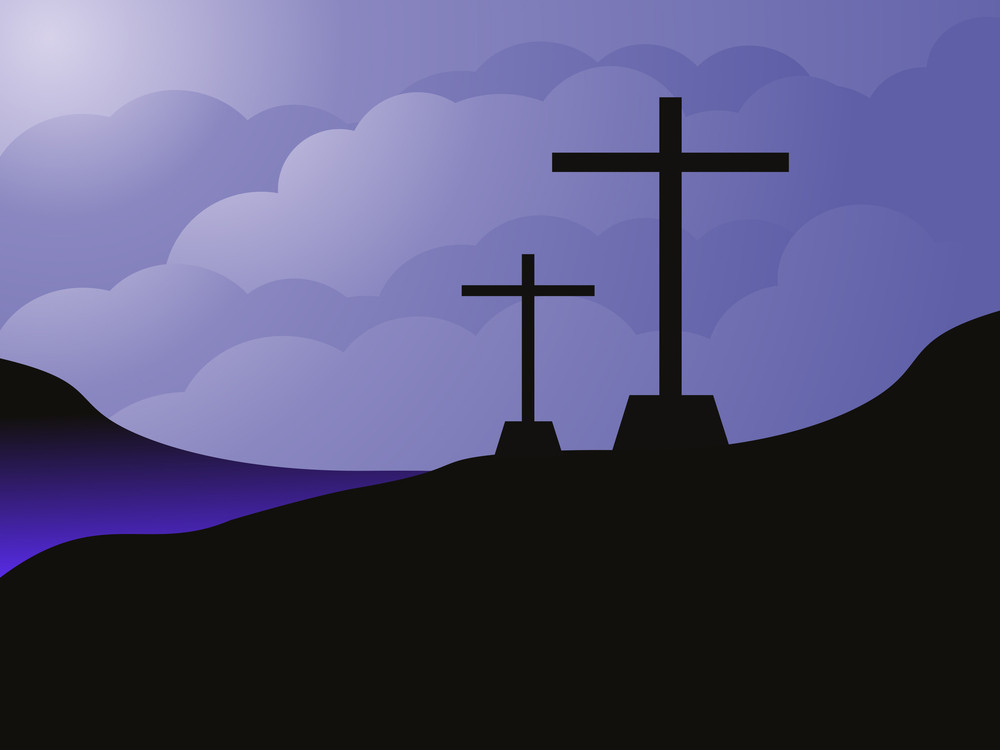 Sky Background With Cross