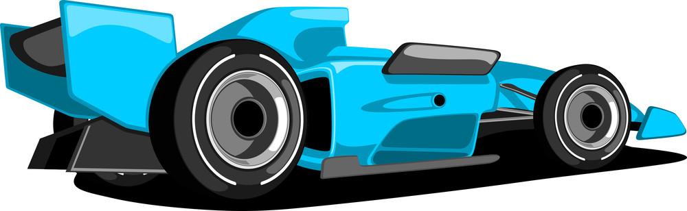 Sky Blue Formula One Car.