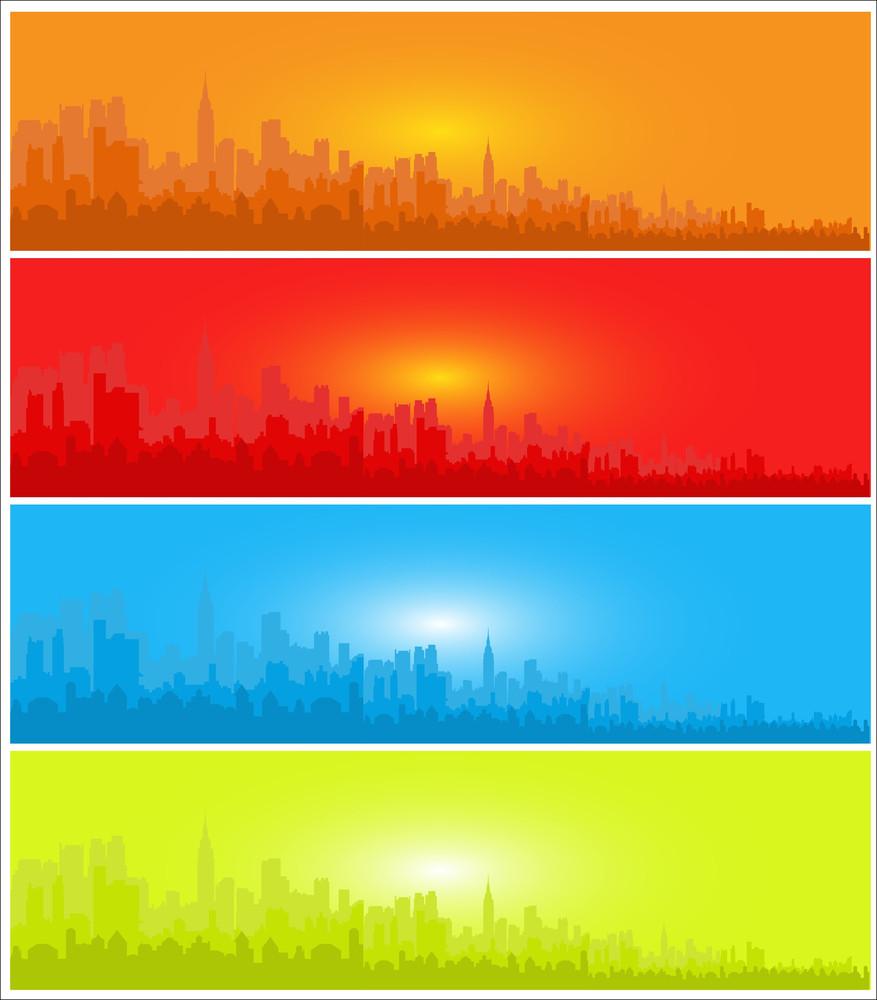 Skyline Banners Set