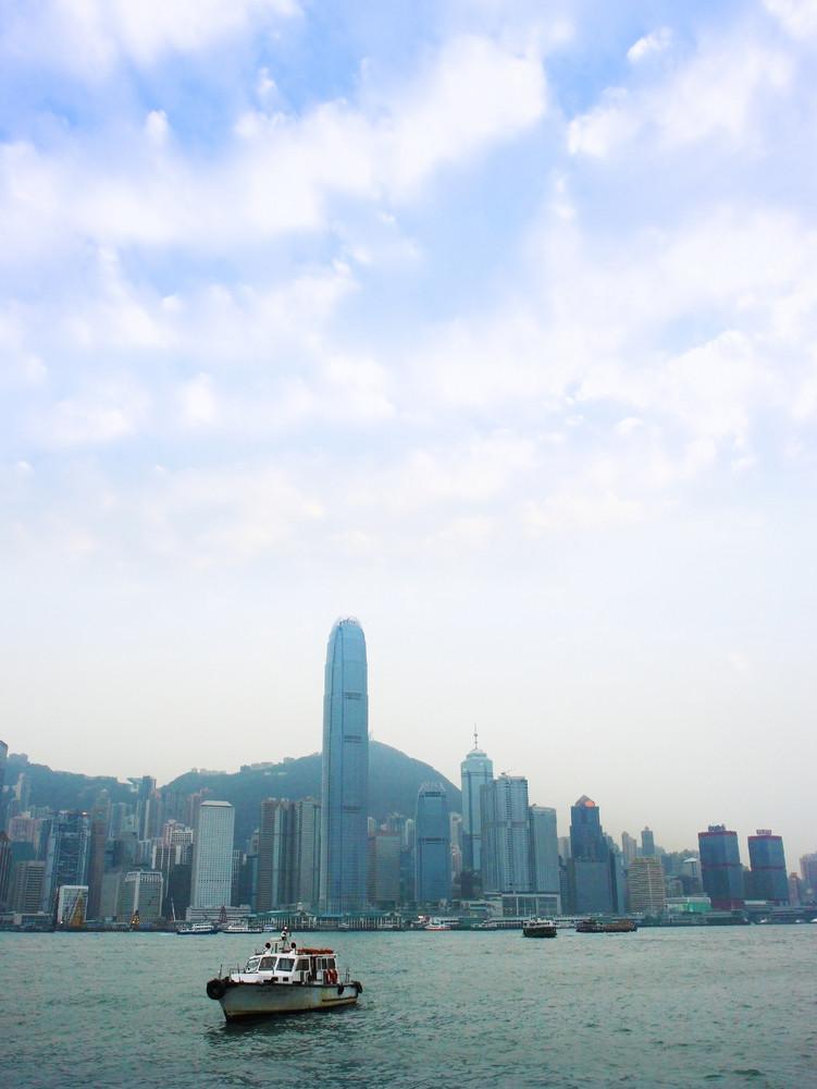 Skyscrapers On Hong Kong Island