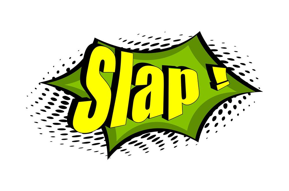 Slap Retro Graphic Text Banner