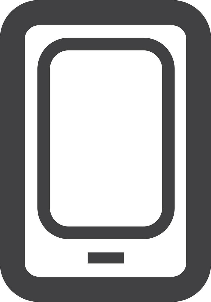 Smart Phone Stroke Icon