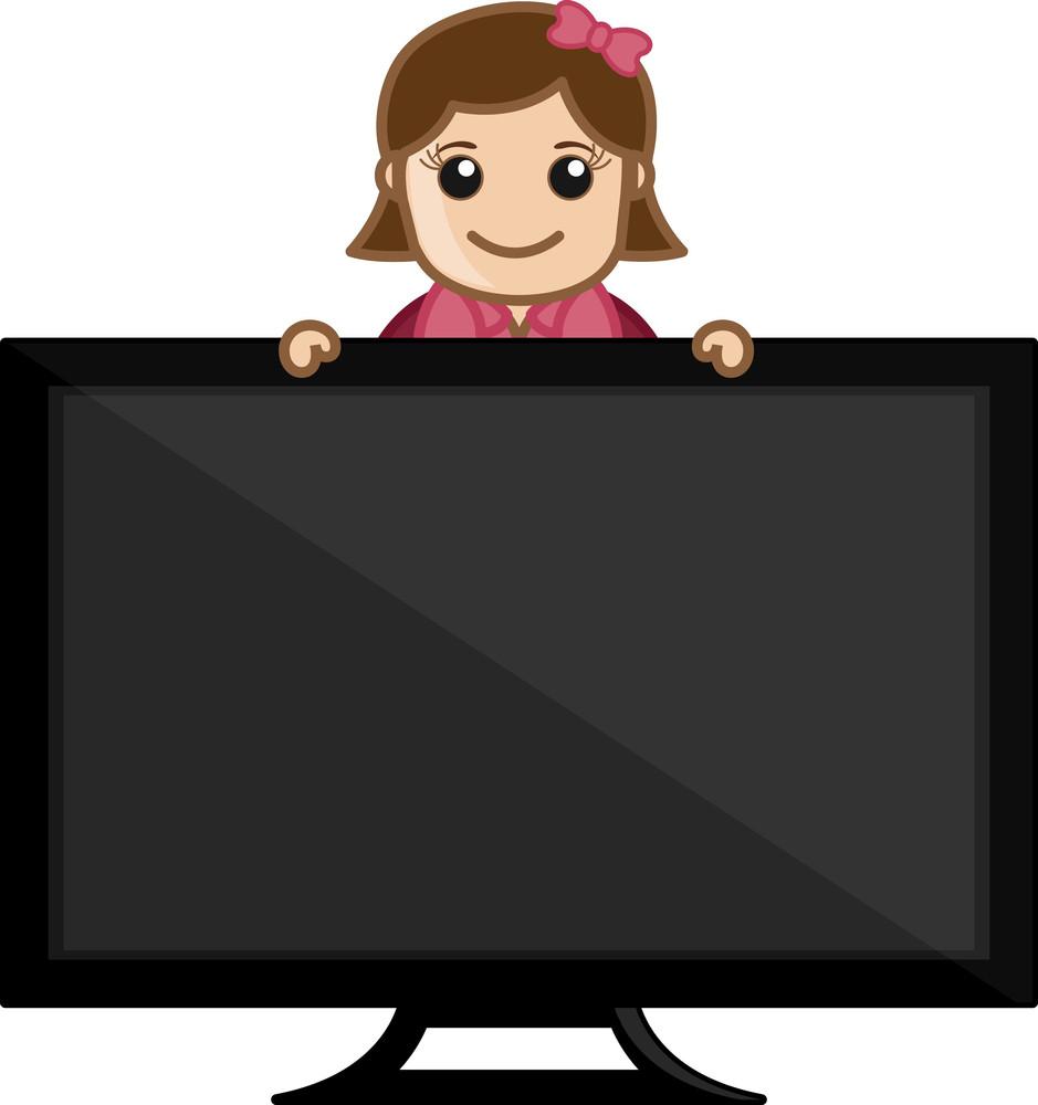 Smart Tv Concept - Business Cartoons