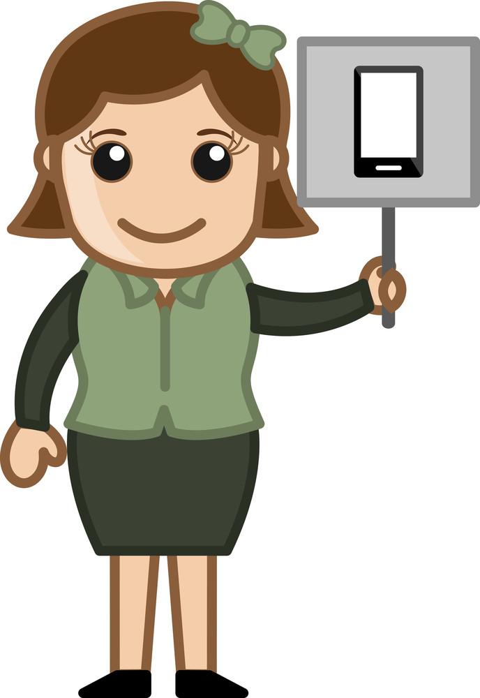 Smartphone Advertisement - Vector Illustration