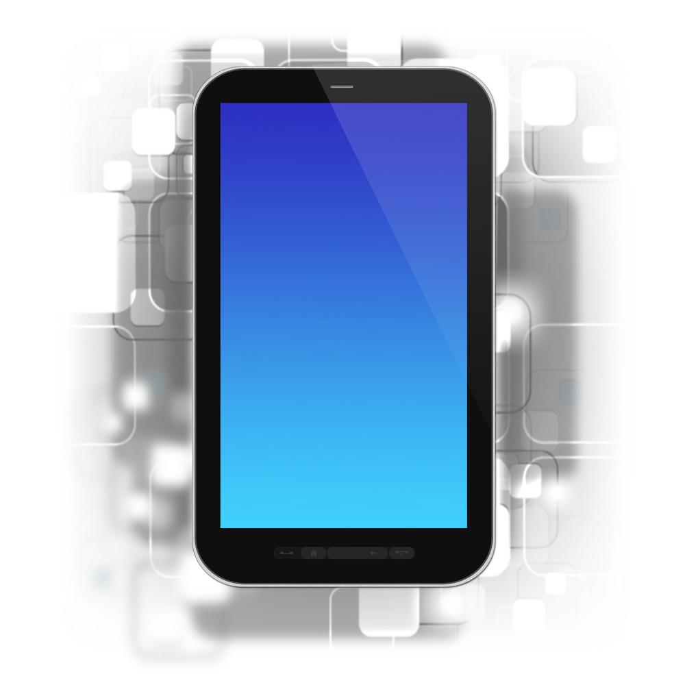 Smartphone On Design Background