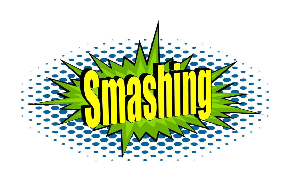 Smashing Retro Text Banner Vector