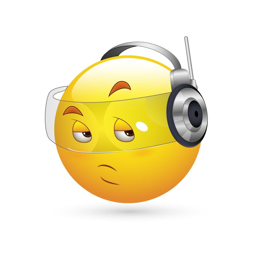 Smiley Emoticons Face Vector - Spy Expression