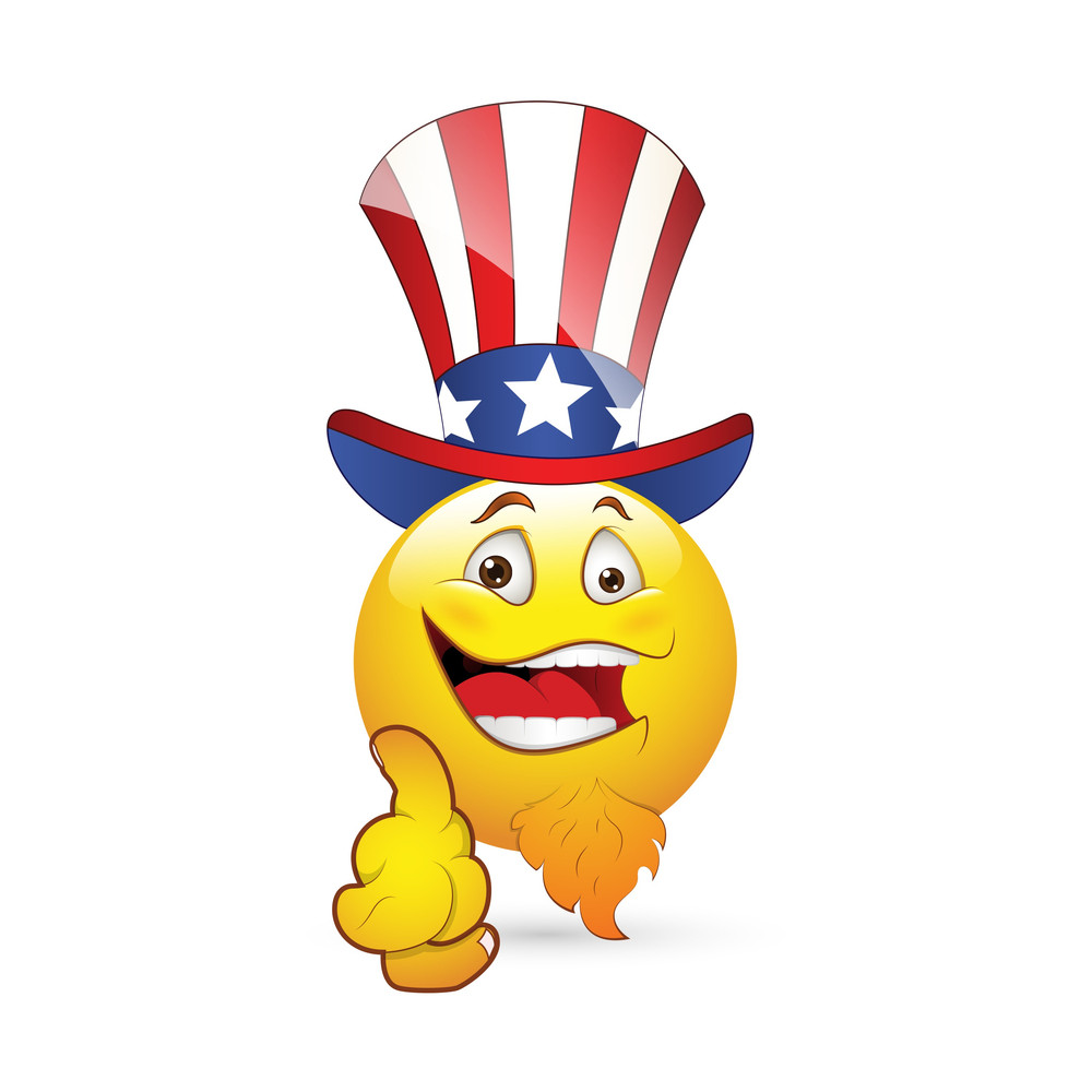Smiley Emoticons Face Vector - Uncle Sam