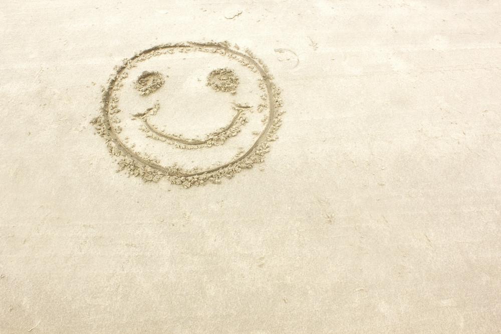 Smiley On Sand