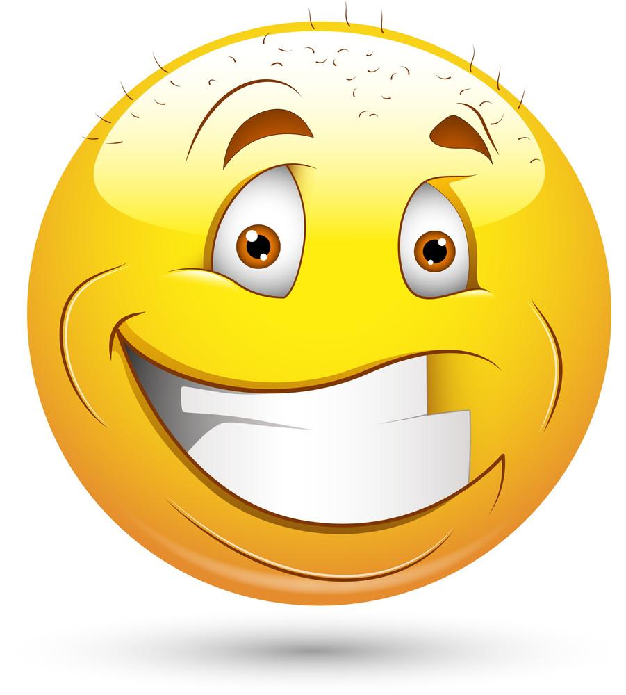 Smiley Vector Illustration - Bald Face Man