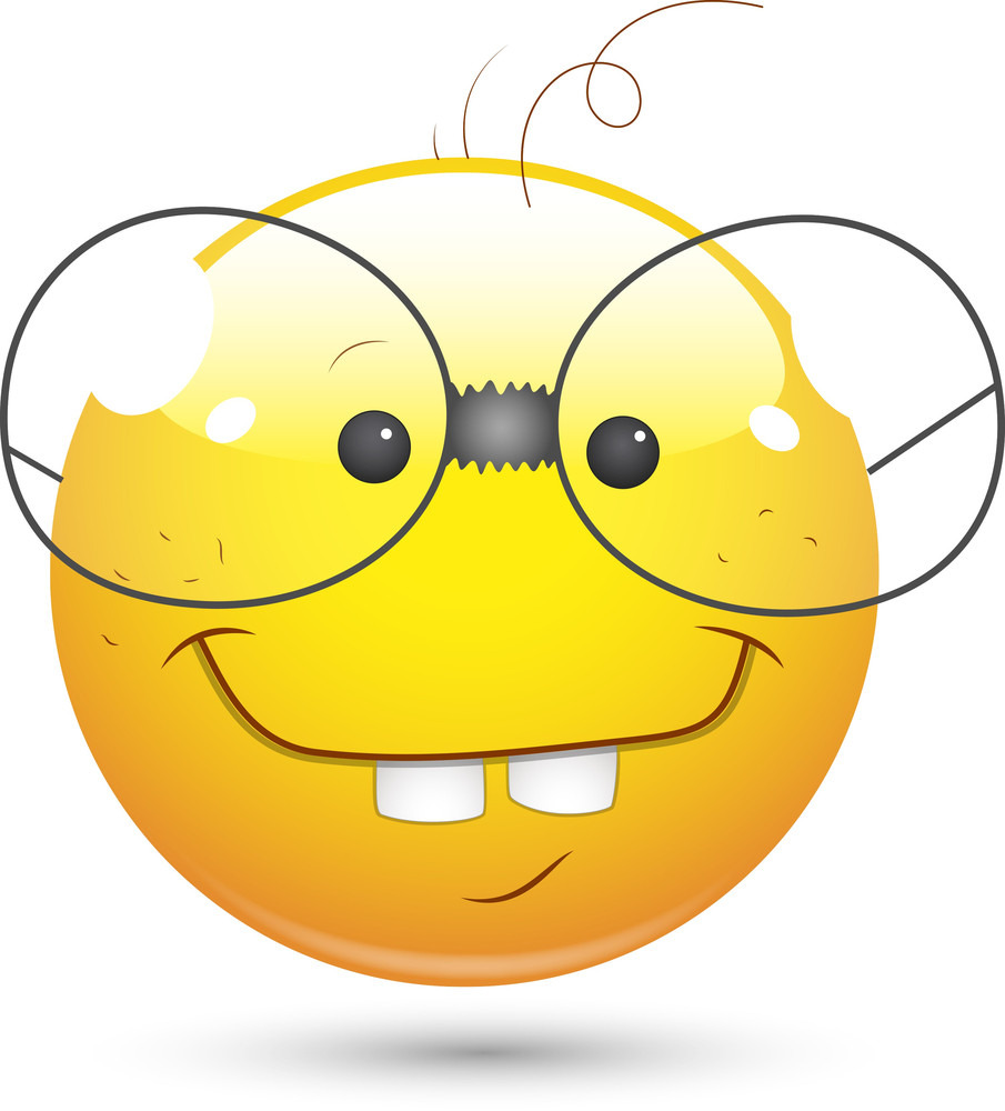Smiley Vector Illustration - Book Worm Face