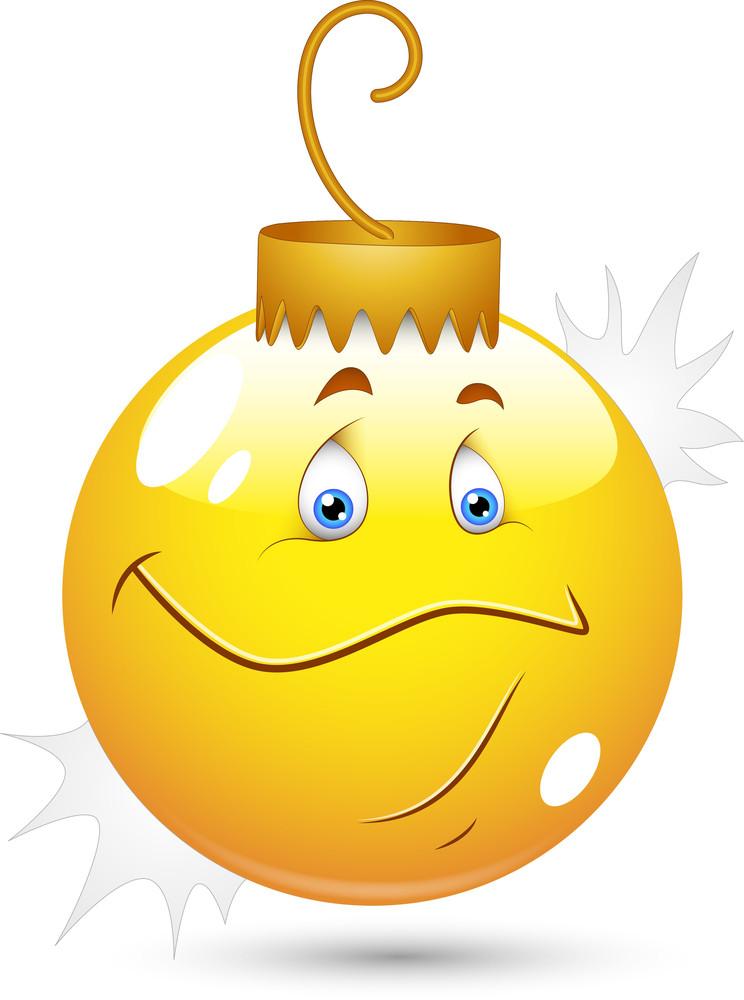 Smiley Vector Illustration - Christmas Bulb