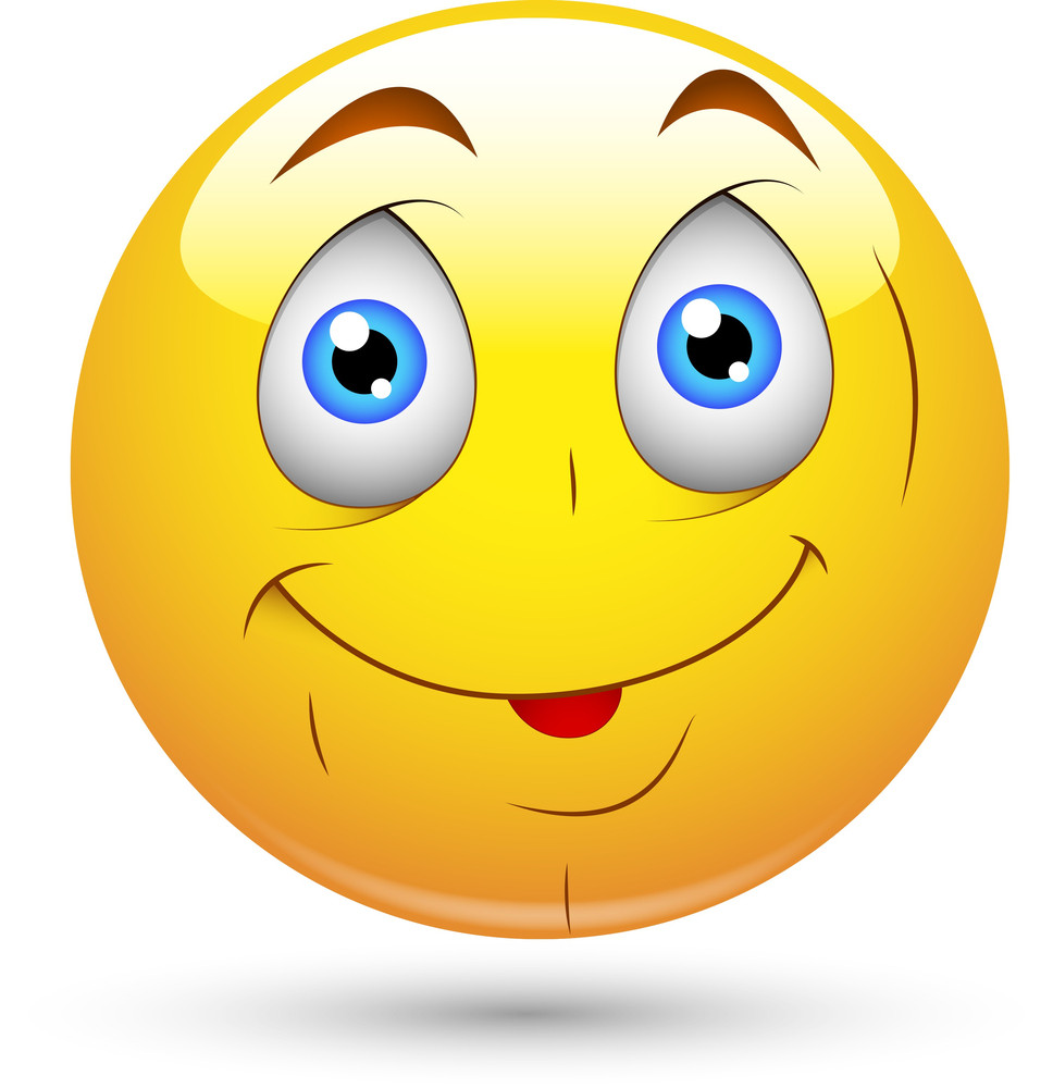 Smiley Vector Illustration - Cute Innocent Face