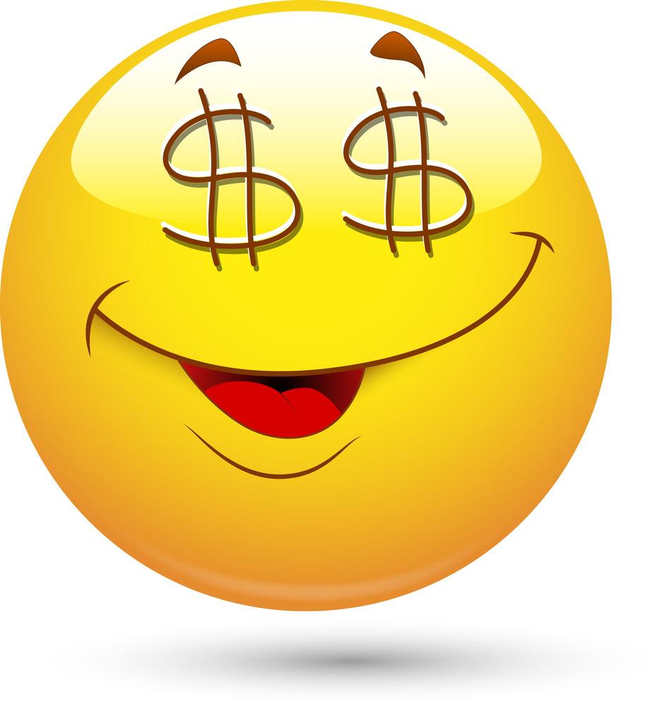 Smiley Vector Illustration - Dollar Eyes